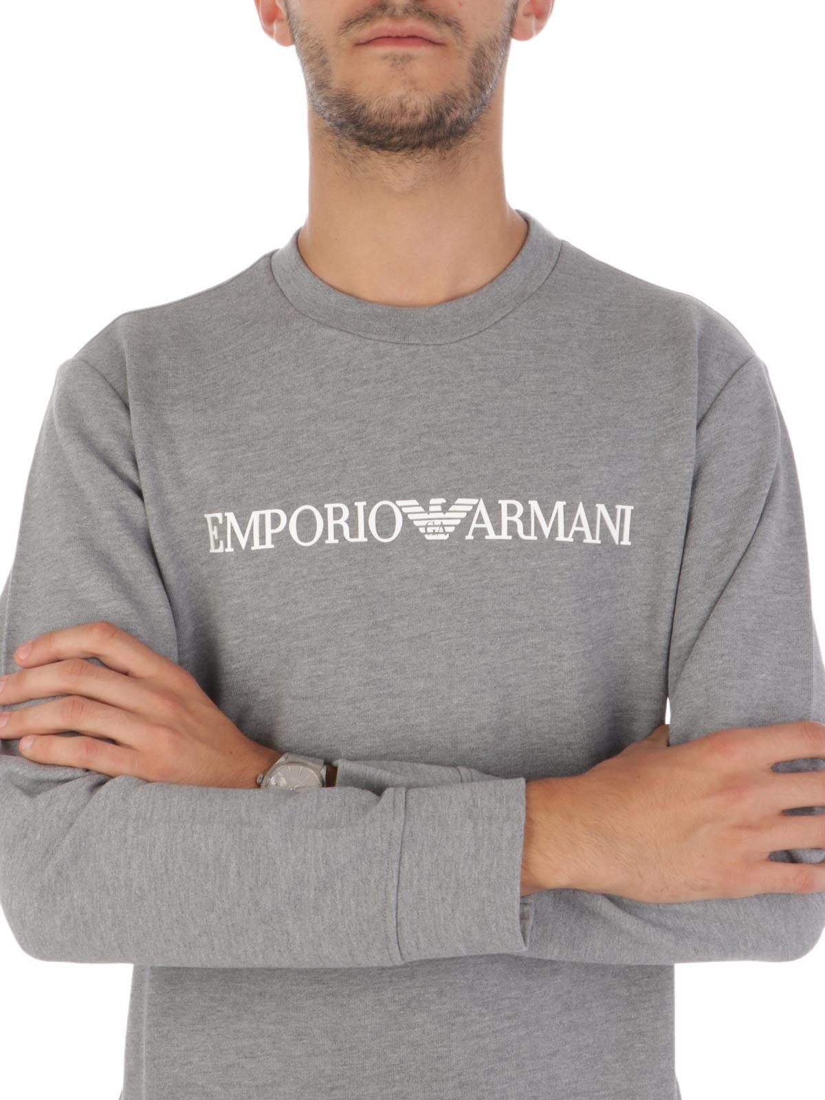 Picture of EMPORIO ARMANI   Men's Embossed Logo Sweatshirt