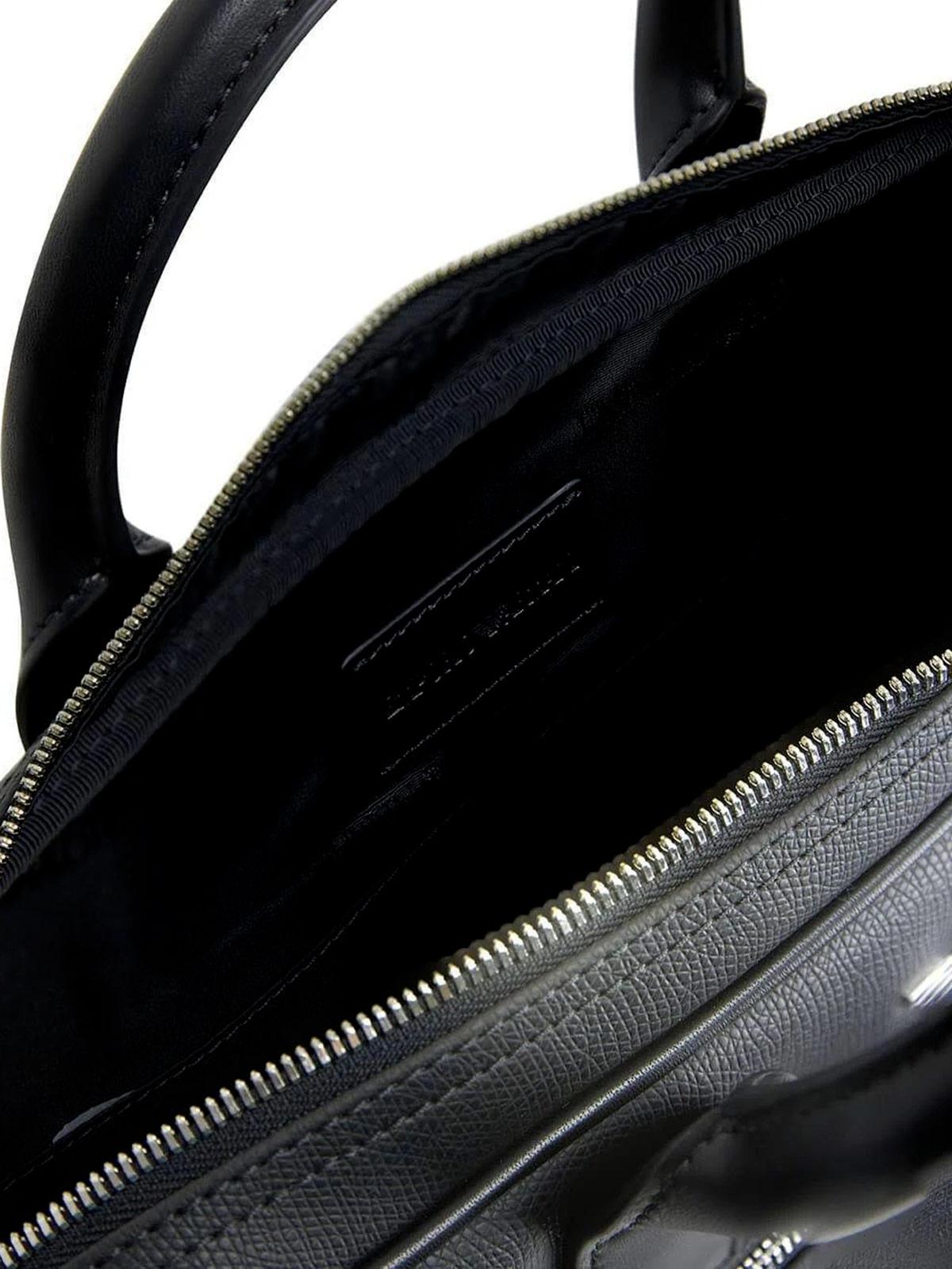 Picture of EMPORIO ARMANI | Men's Briefcase with Logo
