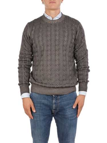 Picture of ALTEA | Men's Cable Knit Wool Sweater