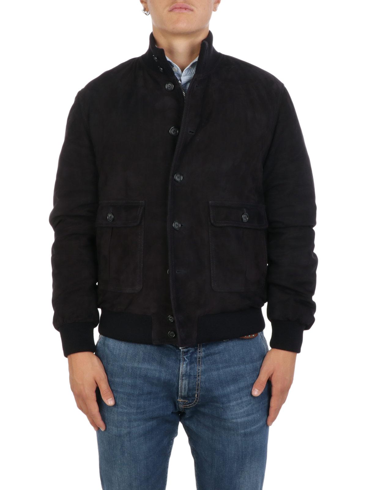 Picture of VALSTAR   Valstarino Suede Padded Jacket