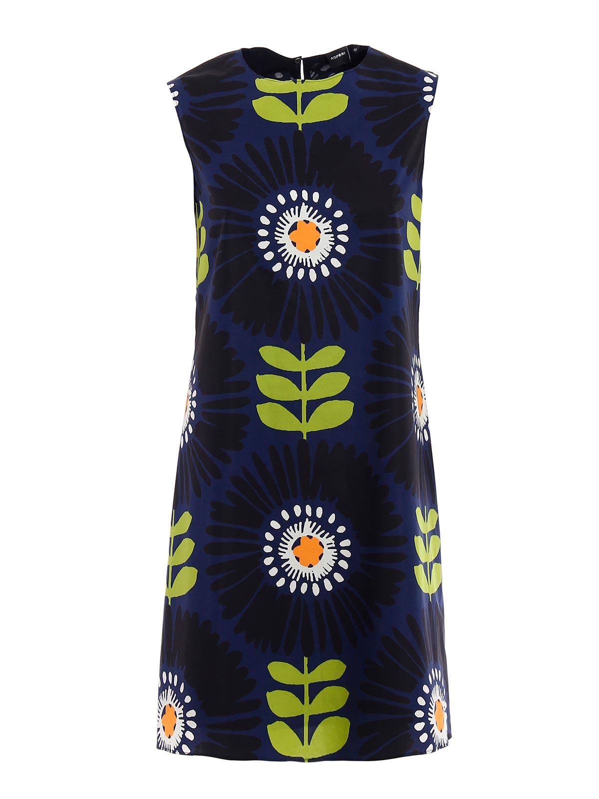 Picture of ASPESI | Women's Maxi Flower Print Dress
