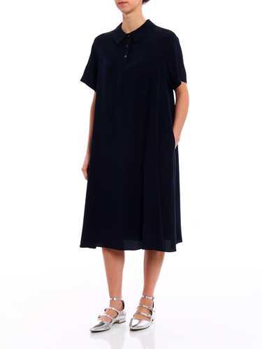 Picture of ASPESI | Women's Solid Silk Shirt Dress