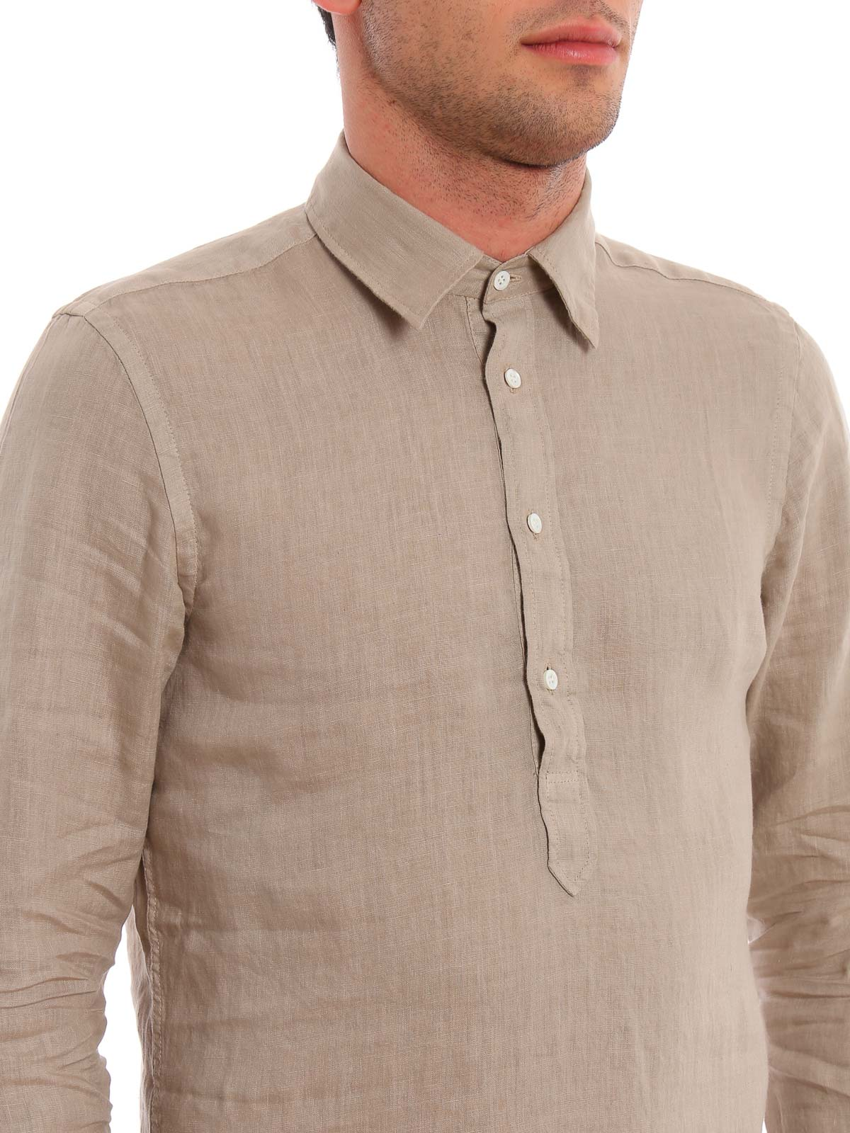 Picture of ASPESI | Men's 3-Button Linen Shirt