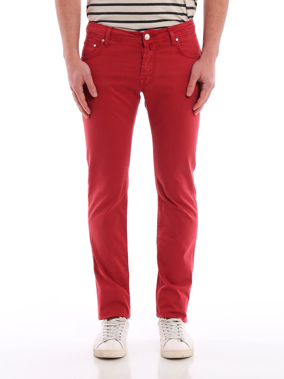 Picture of JACOB COHEN | Men's Stretch Cotton Trousers