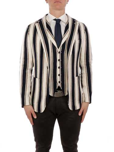 Picture of TAGLIATORE | Men's Striped Cotton Blazer
