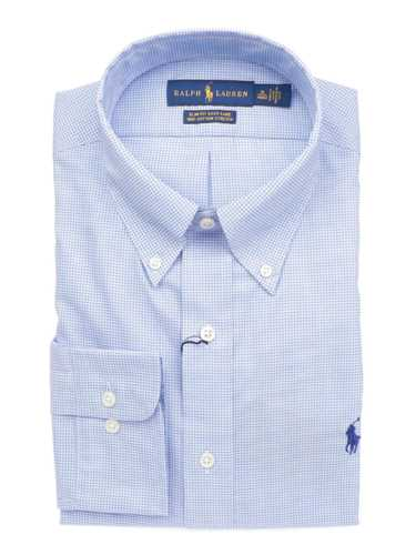 Picture of POLO RALPH LAUREN | Men's Micro-Checked Slim Fit Shirt