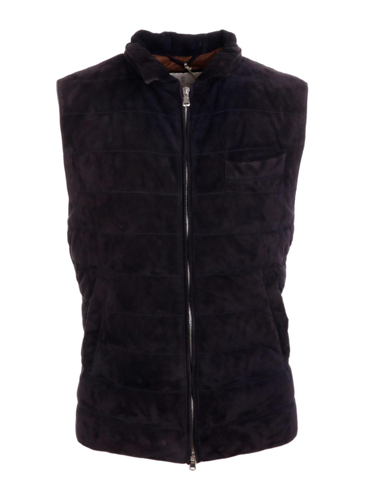 Picture of BRUNELLO CUCINELLI | Men's Suede Vest