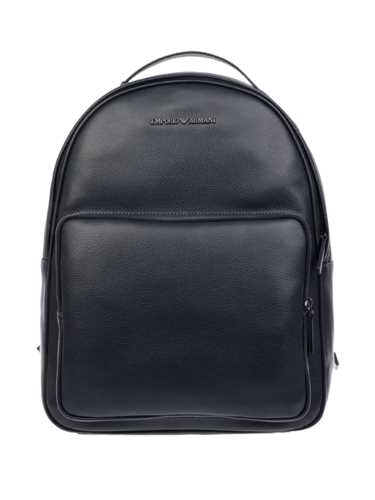 Picture of EMPORIO ARMANI | Men's Metal Logo Leather Backpack