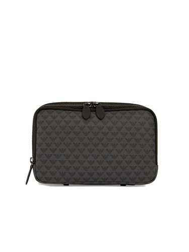 Picture of EMPORIO ARMANI | Men's Logo Print Wash Bag