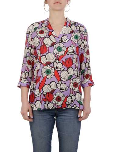 Picture of CALIBAN | Women's Floral Silk Blouse