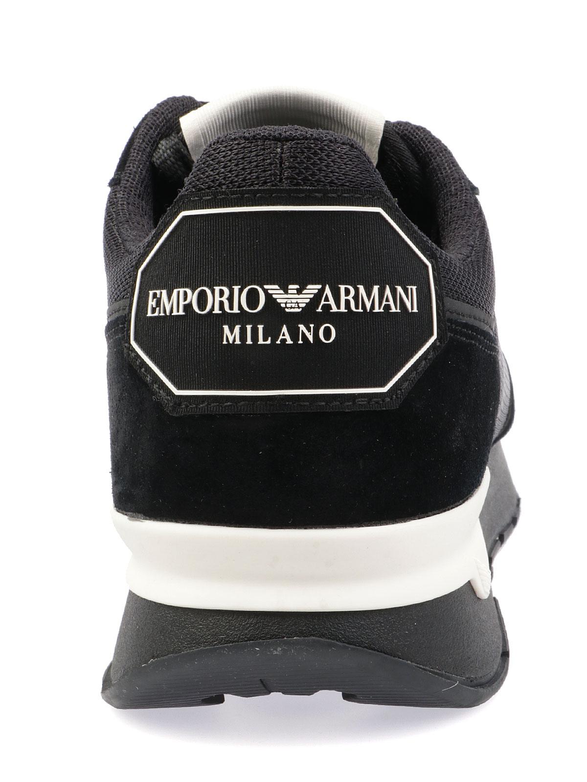 Immagine di EMPORIO ARMANI   Sneaker Uomo in Suede e Mesh