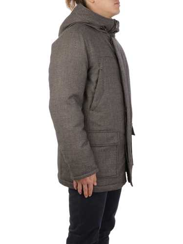 Picture of CORNELIANI | Men's Wool Down Peacoat