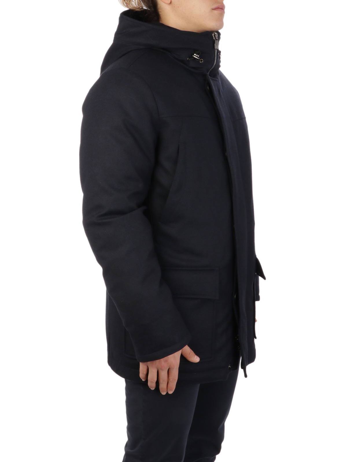 Picture of CORNELIANI | Men's Wool Down Peacoat