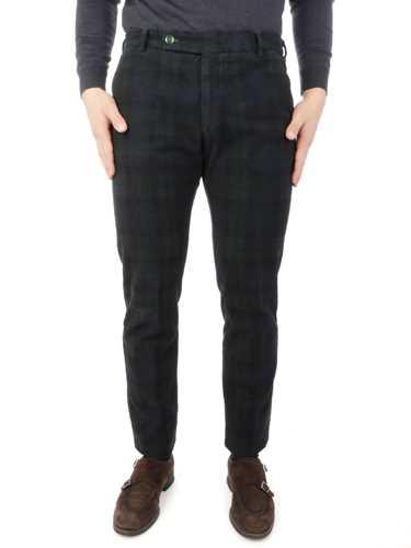 Picture of BERWICH | Men's Morello Check Trousers