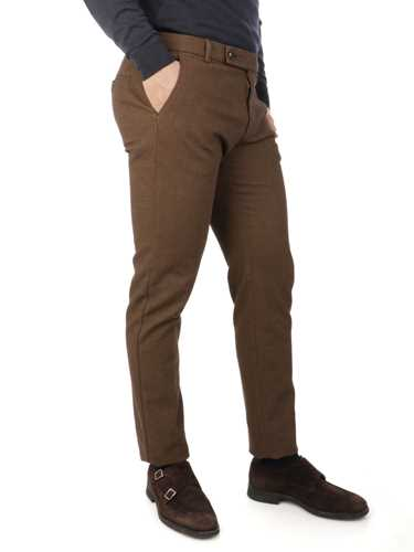 Picture of BERWICH | Men's Barber Cotton Trousers