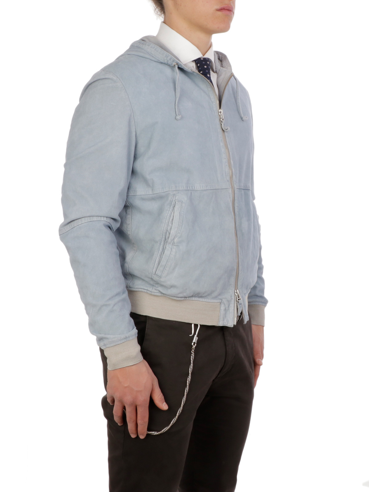 Picture of GIMO'S   Men's Suede Hooded Jacket