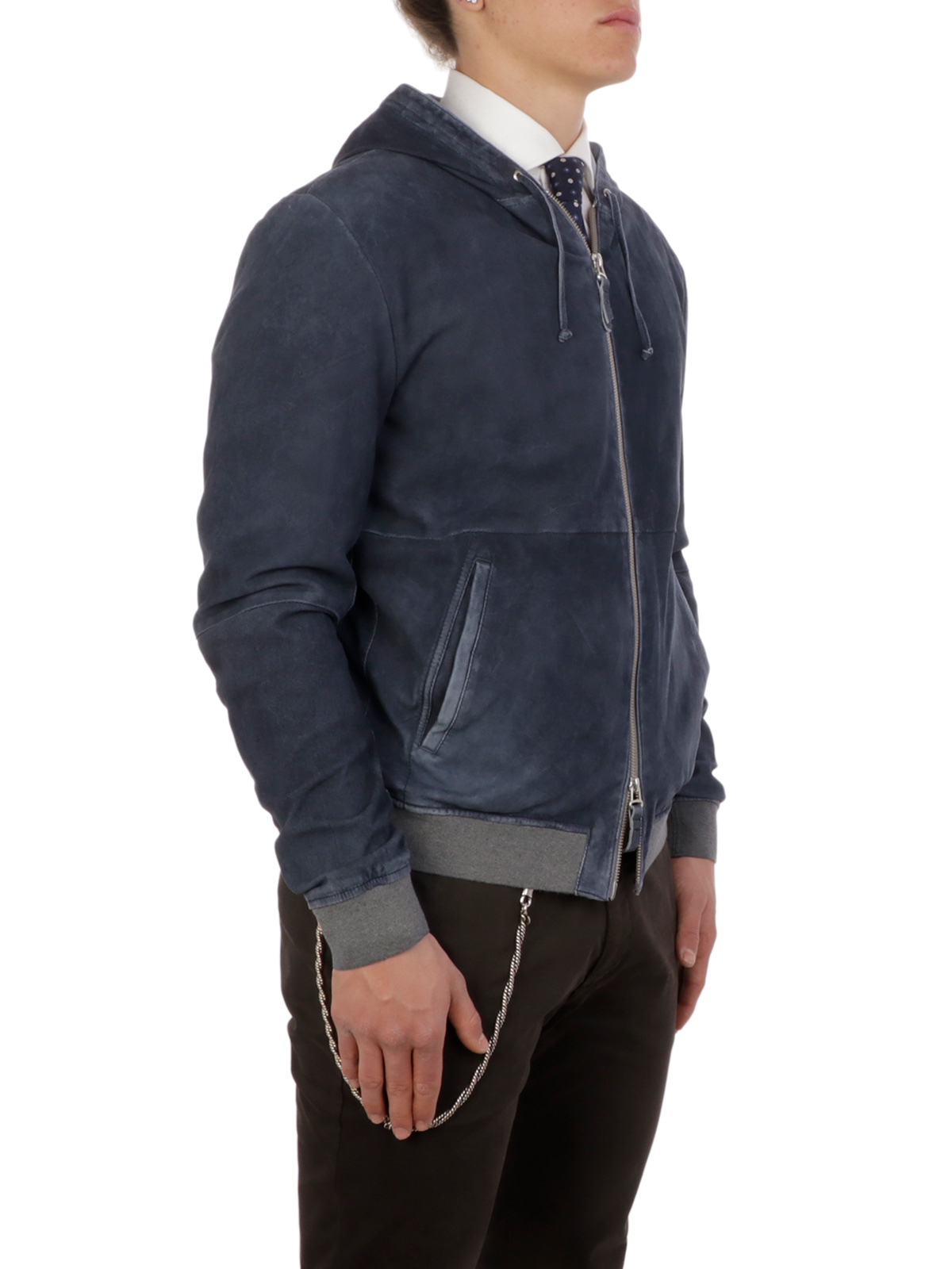 Picture of GIMO'S | Men's Suede Hooded Jacket