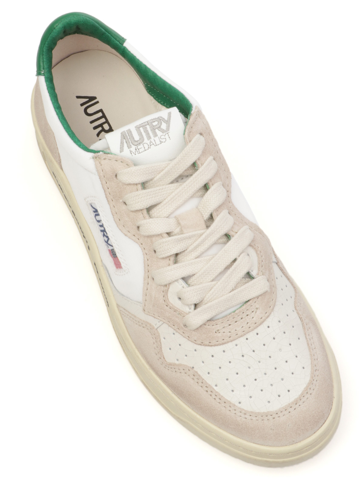 Picture of AUTRY | Men's AULM Leather and Fabric Sneakers