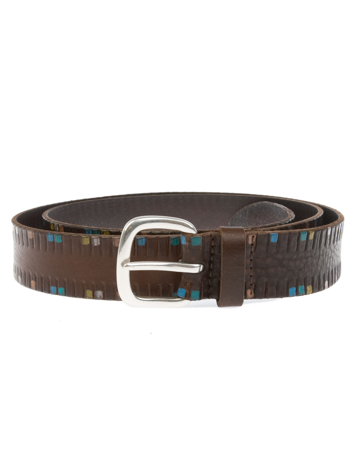 Picture of ORCIANI | Afrika Leather Belt