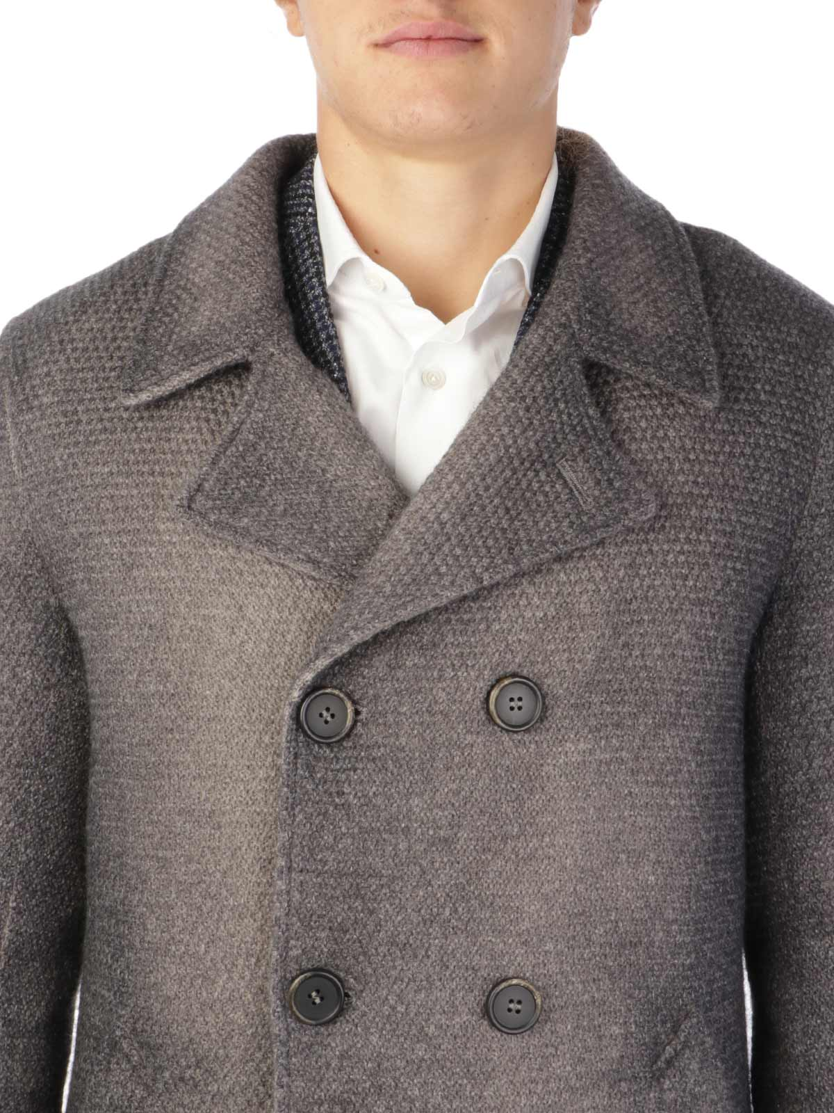 Picture of GIMO'S   Men's Double-Breasted Washed Wool Coat
