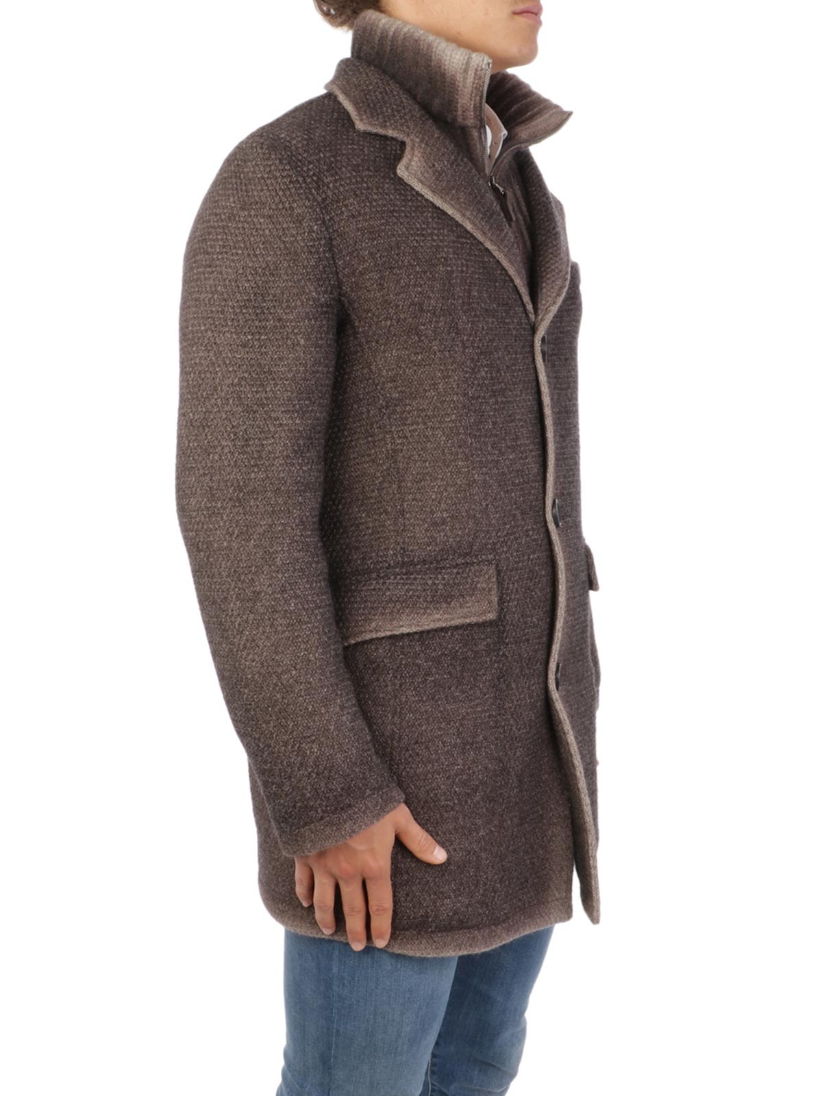 Picture of GIMO'S | Men's Washed Wool Coat