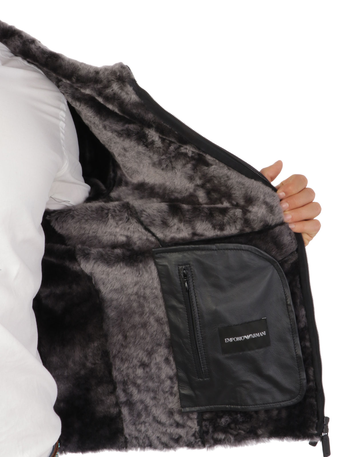 Picture of EMPORIO ARMANI | Men's Sheepsking Jacket