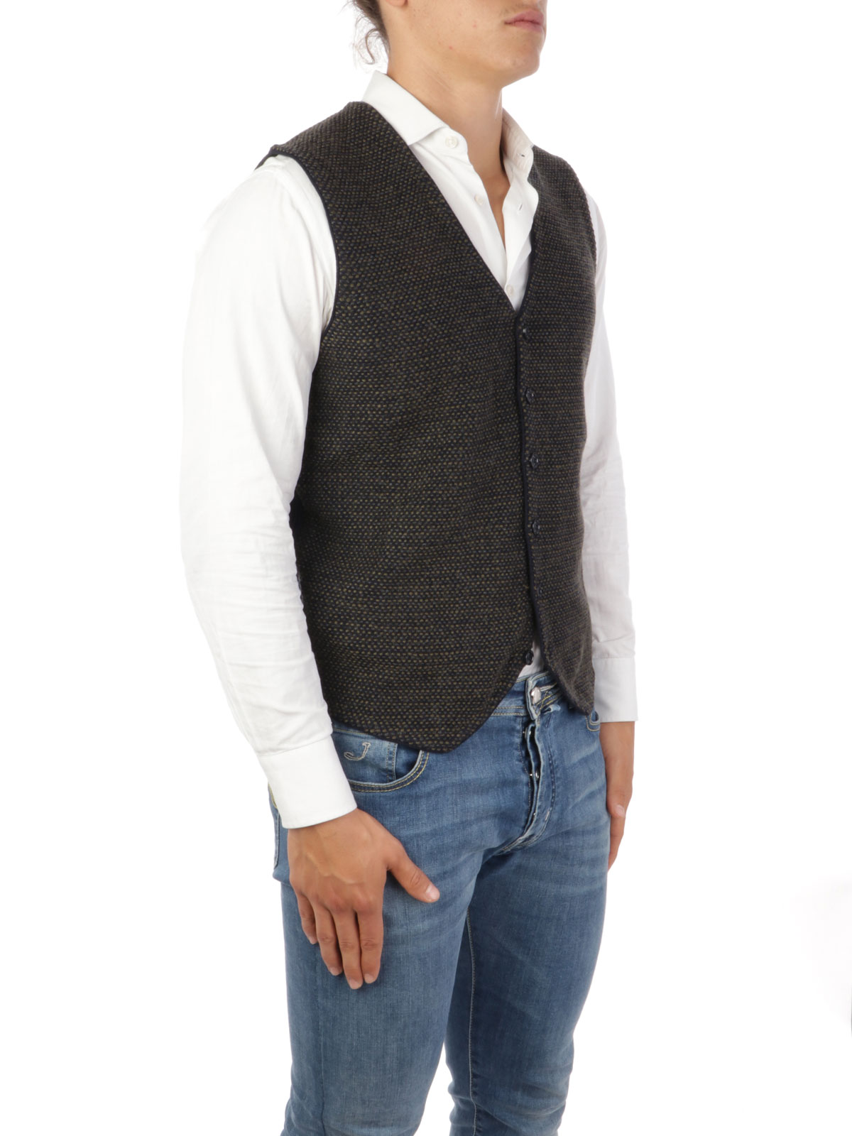 Picture of Brooksfield   Vest Jacquard Waistcoat