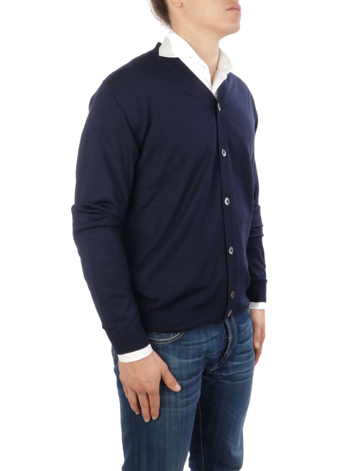 Picture of ELEVENTY | Men's Wool and Silk Cardigan