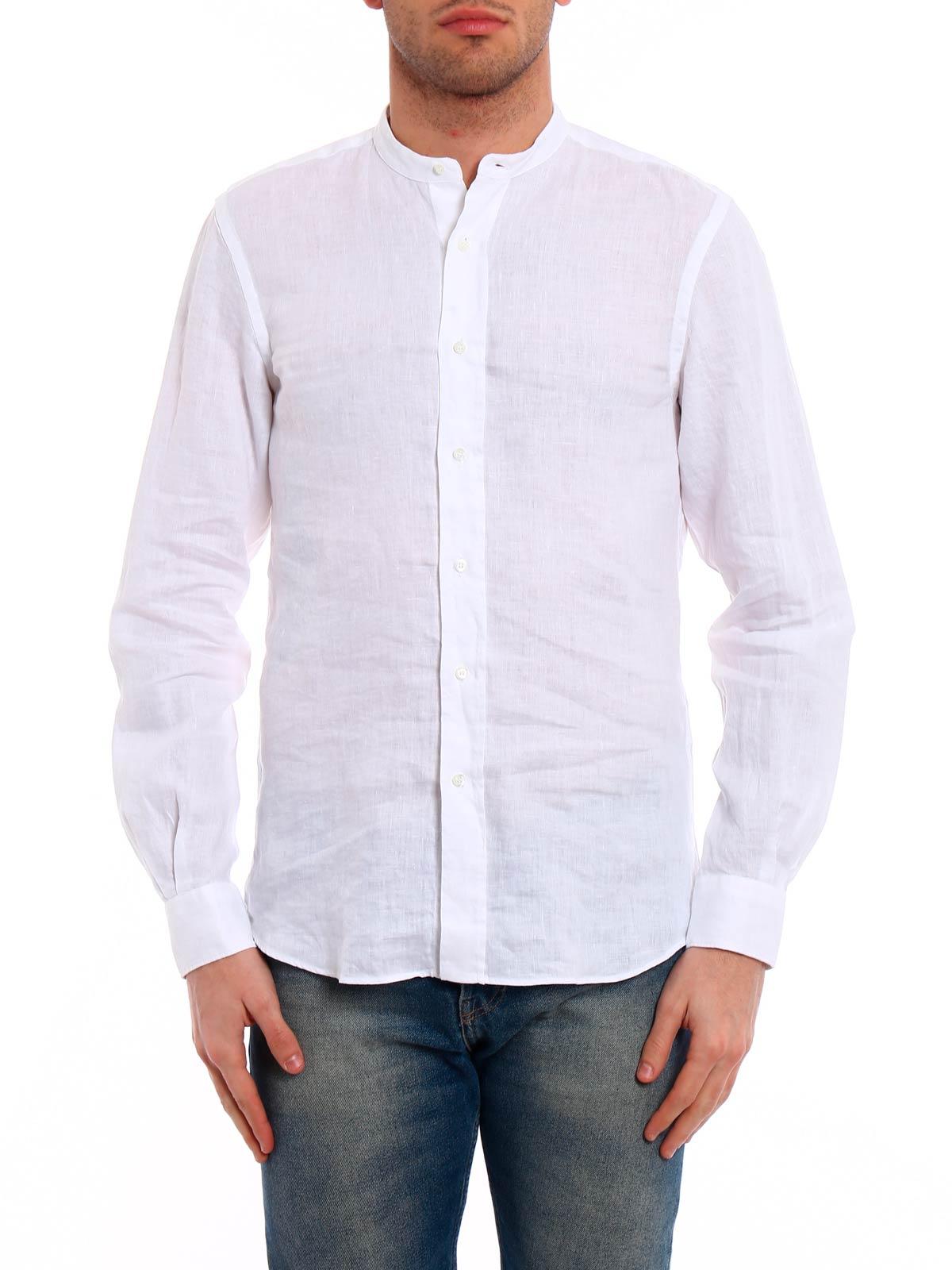 size 40 64822 fc2eb ASPESI Camicia Coreana Uomo in Lino