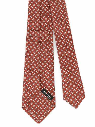 Picture of KITON | Men's Patterned Brown Tie