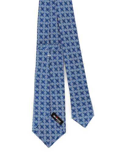 Picture of KITON | Men's Patterned Blue Tie