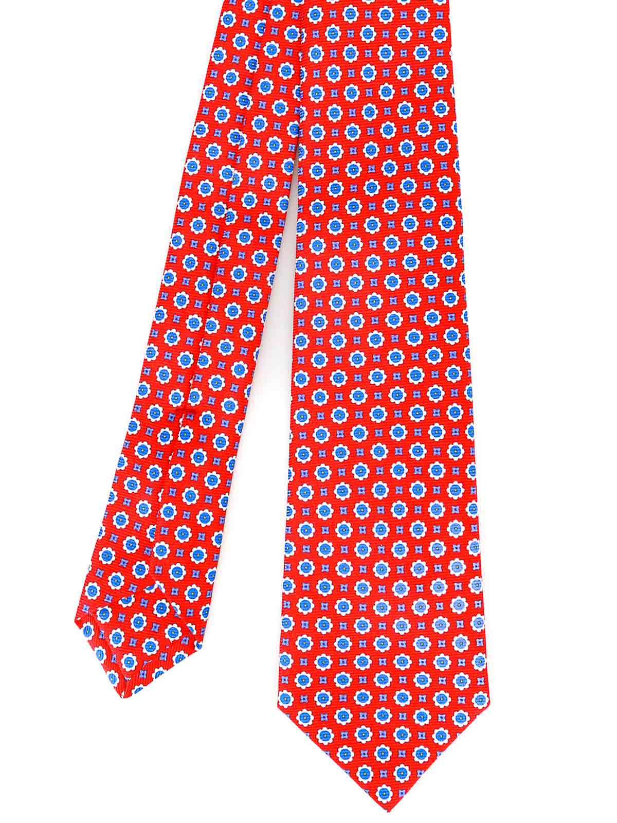 Picture of KITON | Men's Patterned Red Tie