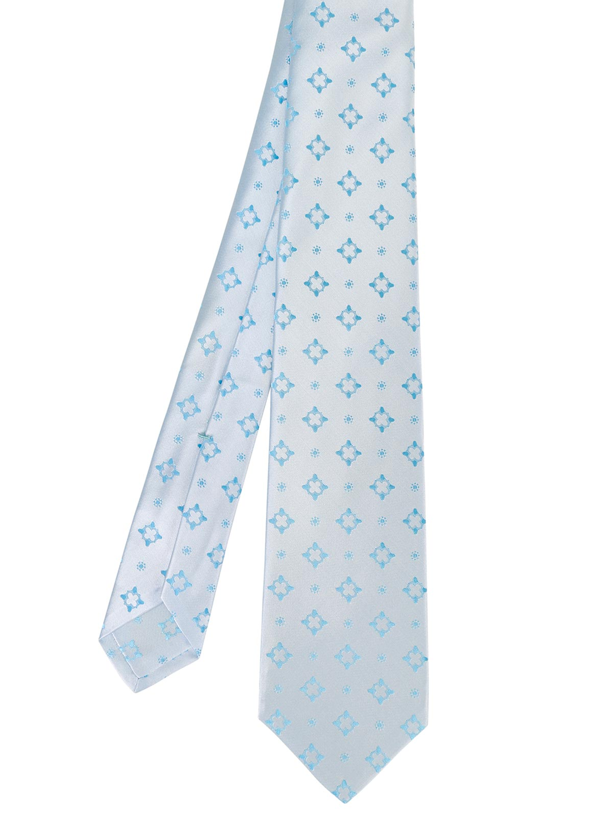 Picture of KITON | Men's Patterned Light Blue Tie