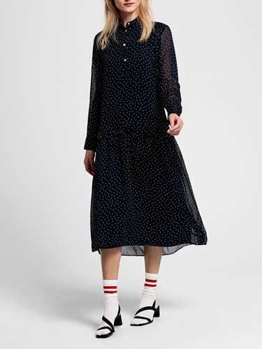 Picture of GANT | Women's French Dot Chiffon Dress