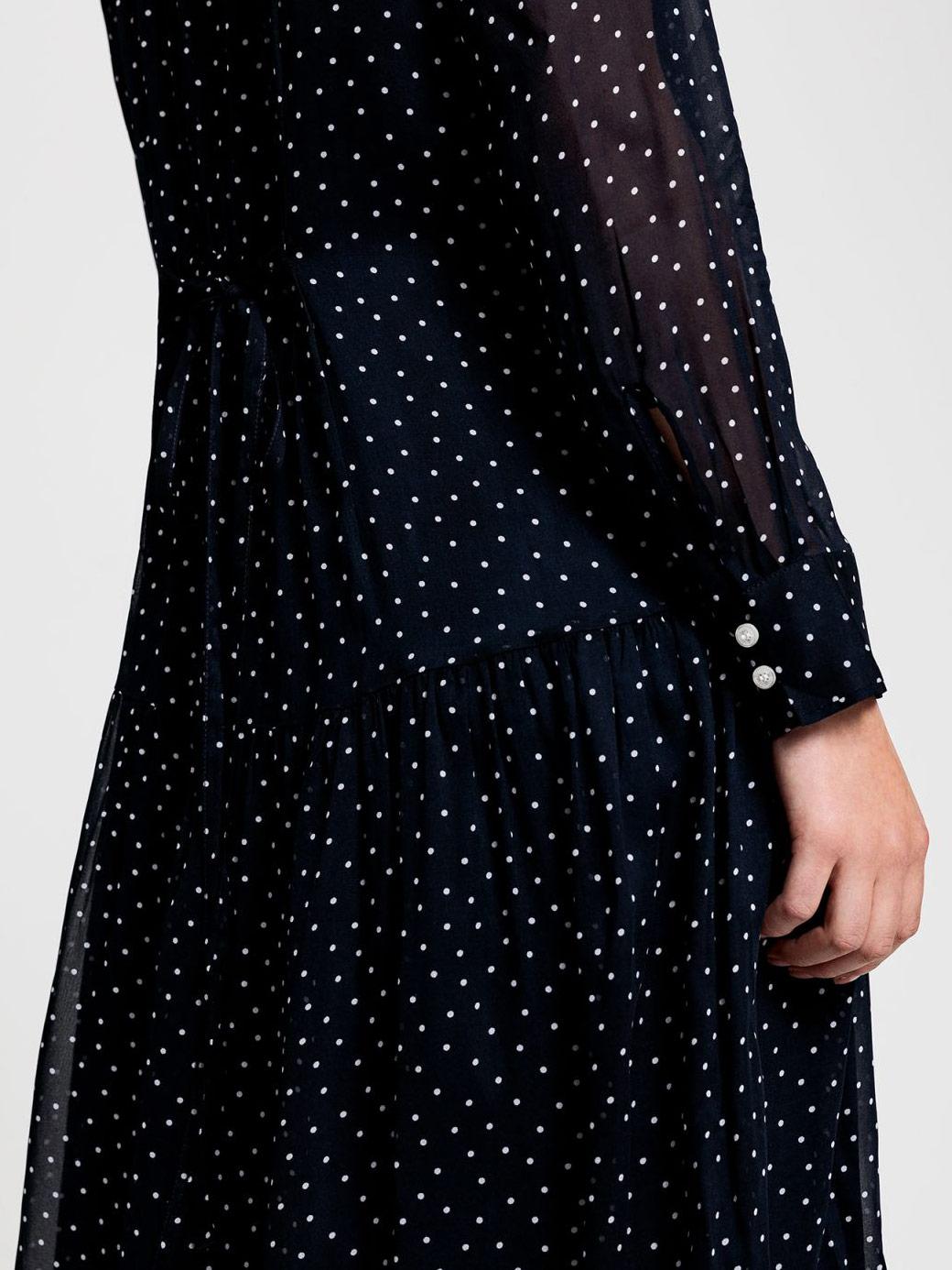 Picture of GANT | Women's French Dot Chiffon Dress