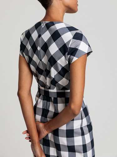 Picture of GANT | Women's Fitted Gingham Dress