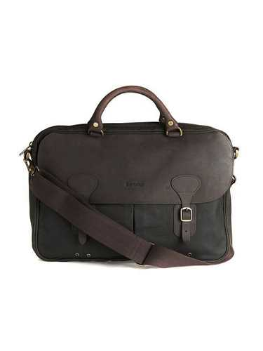Picture of BARBOUR | Men's Wax and Leather Briefcase