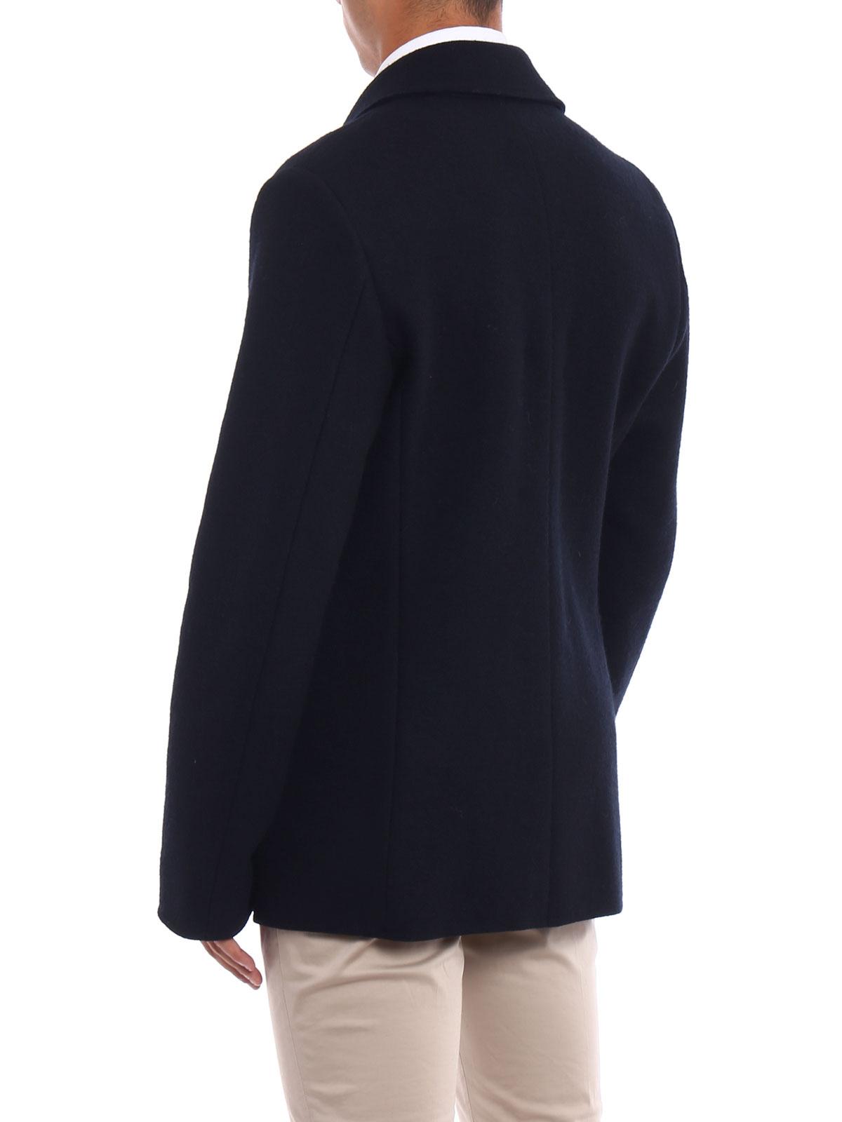 Picture of ASPESI | Men's Peak Boiled Wool Coat