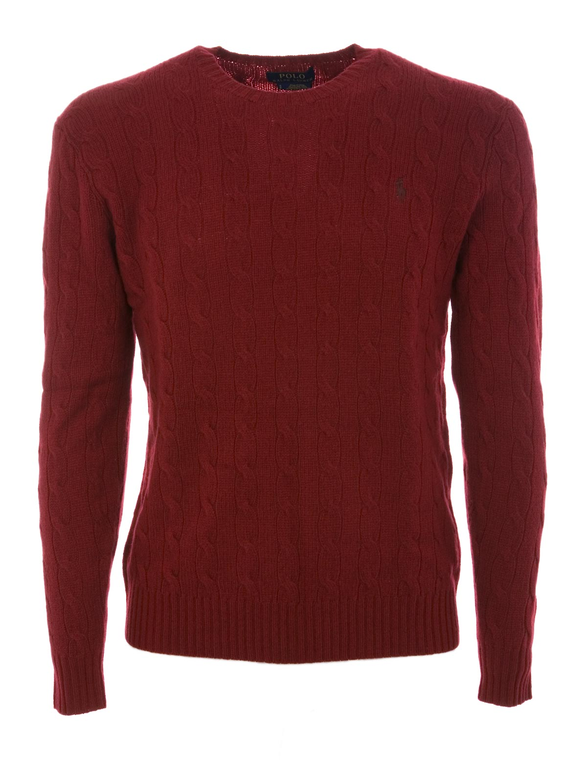 73005537edee3 POLO RALPH LAUREN Cable-Knit Cashmere Sweater Holiday Red ...