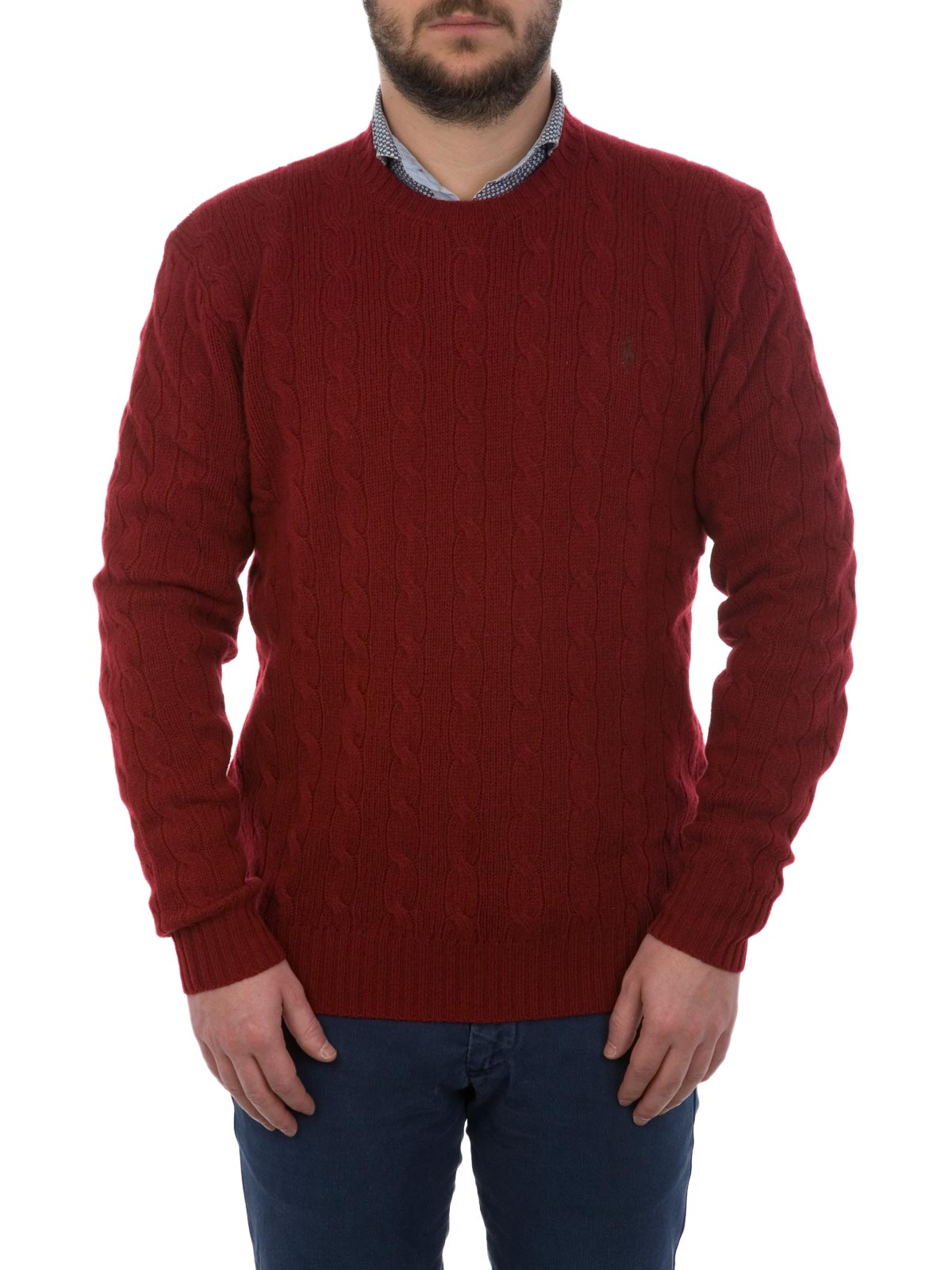 c1b8aaae8 POLO RALPH LAUREN Cable-Knit Cashmere Sweater Holiday Red ...