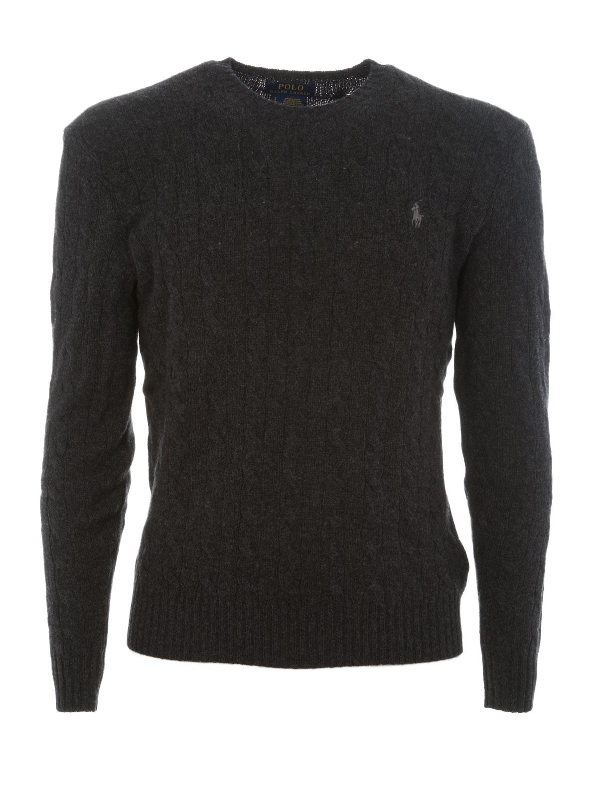 efd8bfc50 POLO RALPH LAUREN Cable-Knit Cashmere Sweater Dark Granite ...