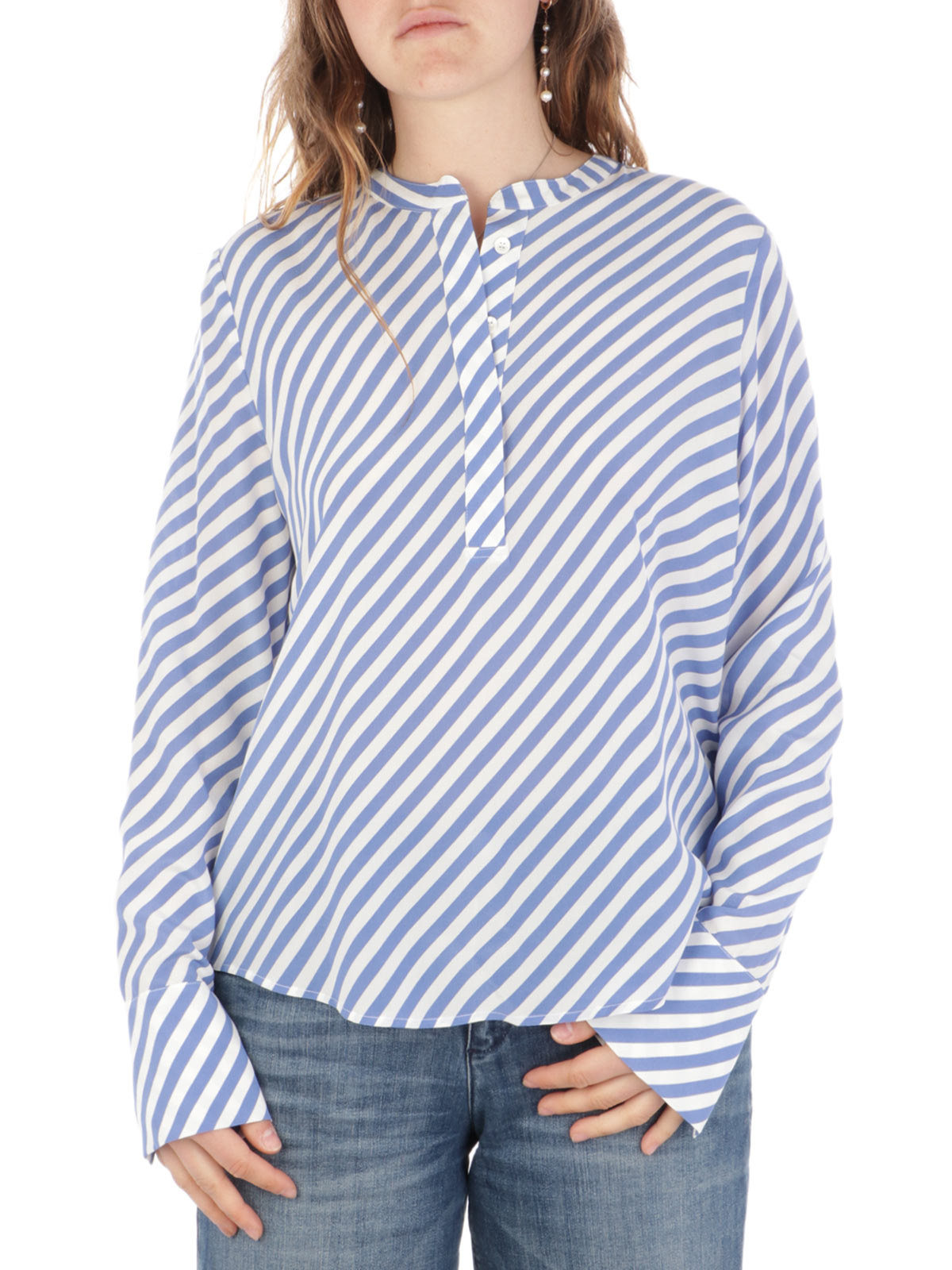 Picture of KAOS | Women's Striped Cotton Blouse