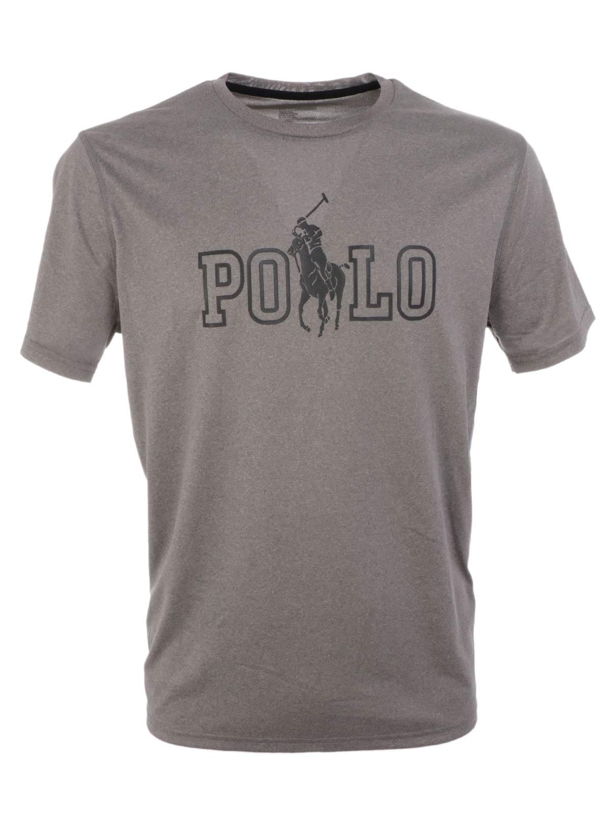 179a2be7ee8 POLO RALPH LAUREN Men s Polyester T-shirt Dark Grey