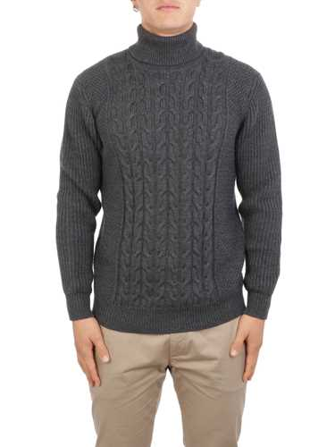 Picture of ALTEA | Men's Cable Knit Turtleneck Sweater
