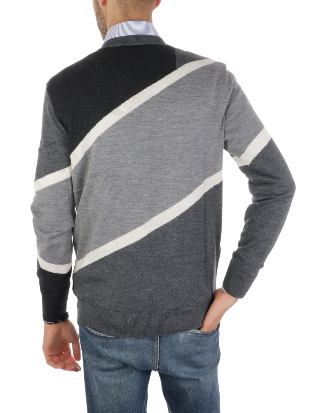 Immagine di EMPORIO ARMANI | Pullover Uomo in Lana Tricolore