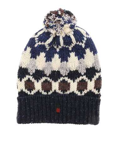 Picture of WOOLRICH | HAT JACQUARD PON PON BEANIE HAT