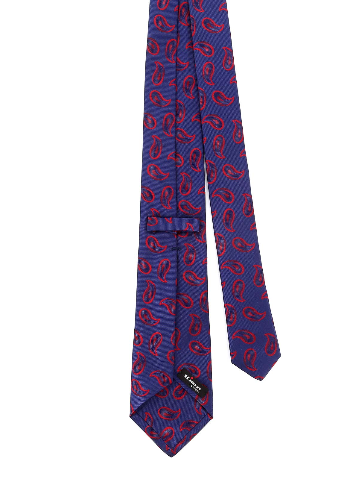 Picture of KITON | Men's Silk Twill Paisley Tie
