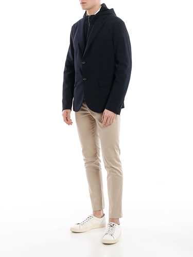 Picture of EMPORIO ARMANI | Men's Hooded Wool Blazer