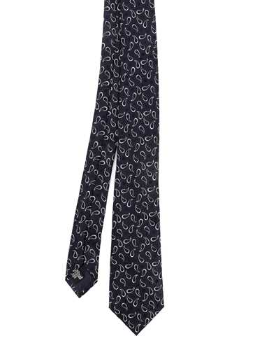 Picture of EMPORIO ARMANI | Men's Micro Paisley Silk Tie