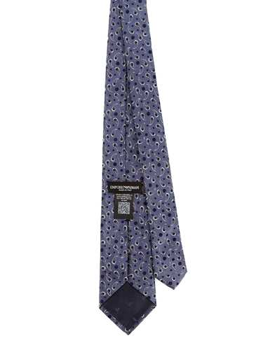 Picture of EMPORIO ARMANI | Men's Dotted Paisley Silk Tie